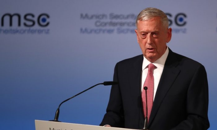 U.S. Defense Secretary Jim Mattis speaks at the opening of the 53rd Munich Security Conference in Munich, Germany on February 17, 2017.  (REUTERS/Michael Dalder)