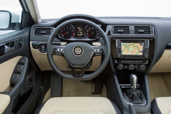 From the driver's seat of the 2017 VW Jetta. (Courtesy of Volkswagen)