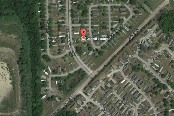 Oakhill Estates, the residential community where the murder occurred. (Google Maps)