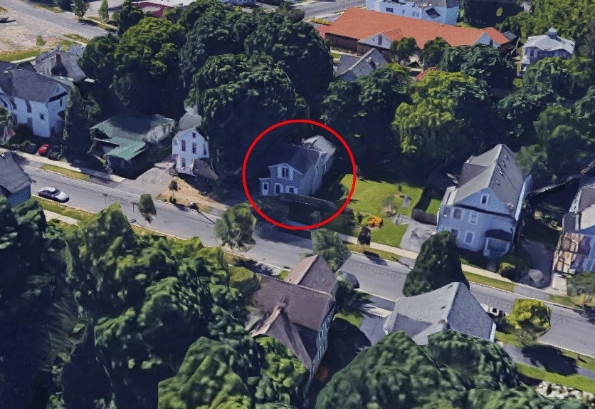 Circled in red is the house at 107 Hartson St in Syracuse, New York, where Shaleek resided. (Google Maps)