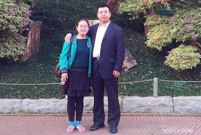 Chinese human rights lawyer Jiang Tianyong and his wife Jin Ling Ling, at time before he was arrested by the Chinese regime.  (NTD.tv)