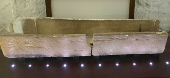 The coffin before it was broken. (Prittlewell Priory Museum)
