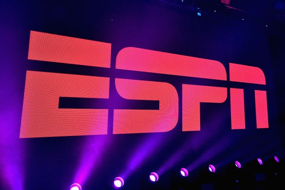 A view of the logo during ESPN The Party on February 5, 2016 in San Francisco, California.  (Mike Windle/Getty Images for ESPN)