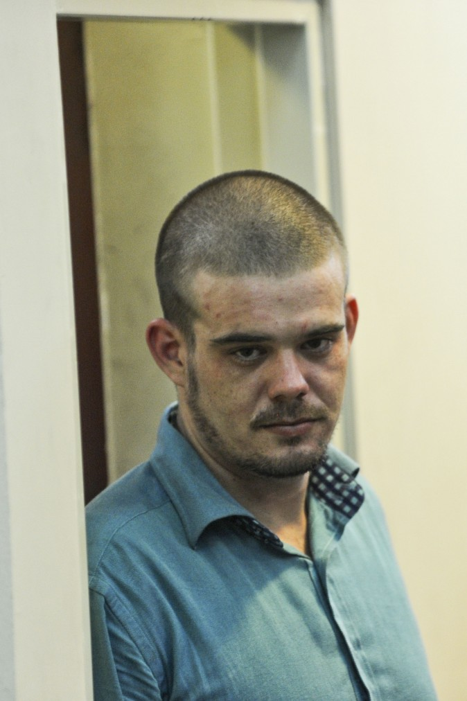 File picture taken on January 11, 2012 of Dutch national Joran Van der Sloot upon arrival for a hearing at the Lurigancho prison in Lima on January 11, 2012. The Peruvian Supreme Court has approved the extradition of Joran van der Sloot to the U.S. on charges of extorting money from the family of missing Alabama teen Natalee Holloway but it will not take place until he serves out his 28-year sentence for the 2010 murder of 21-year-old Stephany Flores.  AFP PHOTO/ERNESTO BENAVIDES        (Photo credit should read ERNESTO BENAVIDES/AFP/GettyImages)