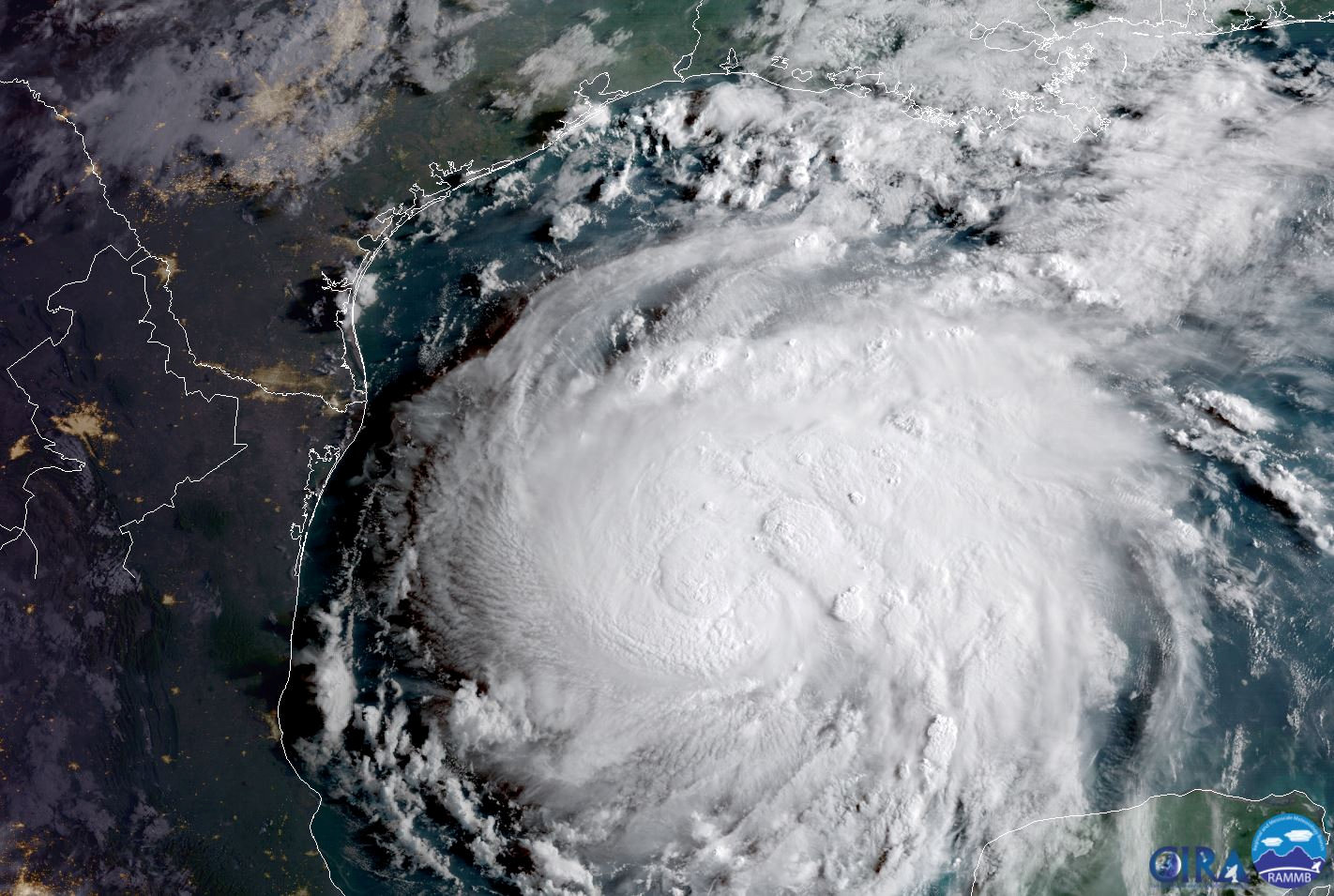 Hurricane Harvey in the Texas Gulf Coast.  (NOAA/via Reuters)