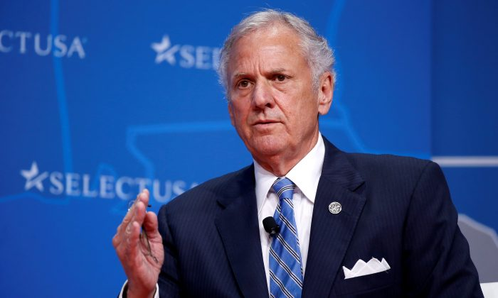 Governor of South Carolina Henry McMaster speaks at 2017 SelectUSA Investment Summit in Oxon Hill, Maryland, U.S. on June 19, 2017.   (REUTERS/Joshua Roberts/File Photo)