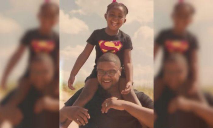 Jordan Jones, 5, and her father Johnathan Jones. (Family photo)