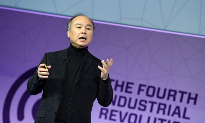 SoftBank founder and CEO Masayoshi Son at the 2017 Mobile World Congress in Feb. in Barcelona. (Luis Gene/AFP/Getty Images)