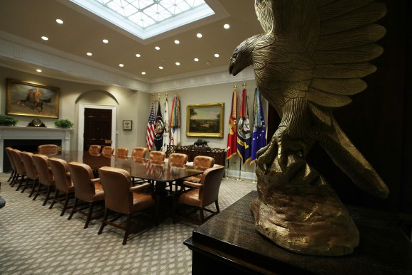 The Roosevelt Room of the White House after renovations on Aug. 22, 2017. (Alex Wong/Getty Images)