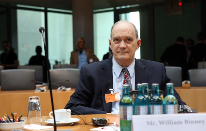 William Binney, former intelligence official of the NSA, testifies in Berlin on July 3, 2014. (Adam Berry/Getty Images)