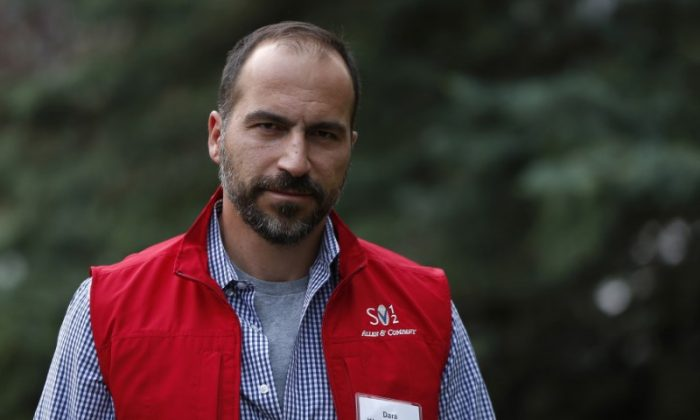 FILE PHOTO - CEO of Expedia, Inc. Dara Khosrowshahi attends the Allen & Co Media Conference in Sun Valley, Idaho on July 13, 2012.  (Reuters/Jim Urquhart)