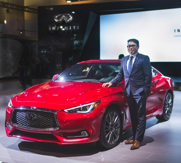 Chad Yee and the new Q60 coupe (Infiniti)