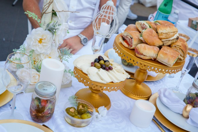 Picnic food for the annual Diner en Blanc in New York on Aug. 22, 2017.(Eric Vitale for Diner en Blanc)