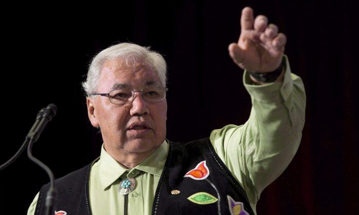 Truth and Reconciliation Commission Chair Justice Murray Sinclair during closing events for the commission in Ottawa on June 1, 2015. Now a senator, Sinclair says getting rid of tributes that are considered offensive to Indigenous Peoples would be counterproductive because it smacks of anger, not harmony. (The Canadian Press/Adrian Wyld)