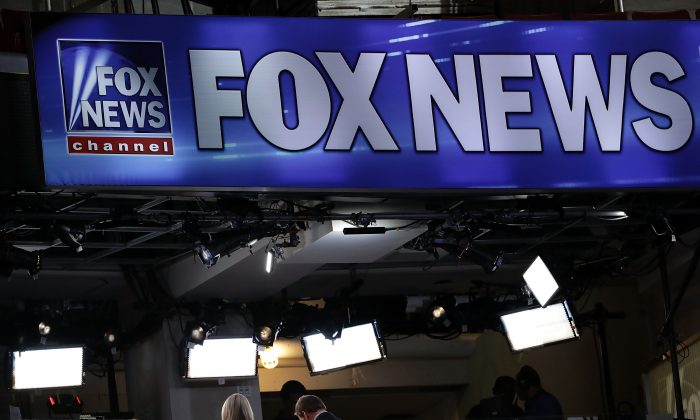A booth of Fox News is seen at the Wells Fargo Center on July 24, 2016, in Philadelphia, Pennsylvania. The Democratic National Convention opens July 25.  (Alex Wong/Getty Images)