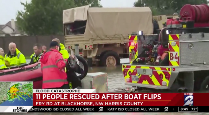 KPRC live coverage of Cypress rescue Tuesday morning. (Screenshot via KPRC)