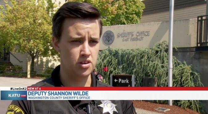 Deputy Shannon Wilde. (Screenshot via KATU)