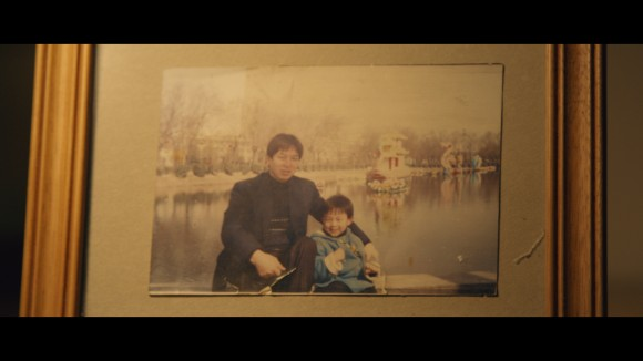 Eric and his dad in Shaanxi province China during happier times.  (Alexander Nilsen)