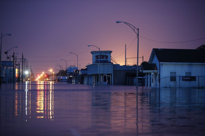 A street after it was inundated with flooding from Hurricane Harvey in Port Arthur, Texas, on Aug. 31, 2017. (Joe Raedle/Getty Images)