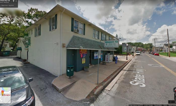 Monaghan's Pub in Baltimore, Maryland. (Screenshot via Google Maps)