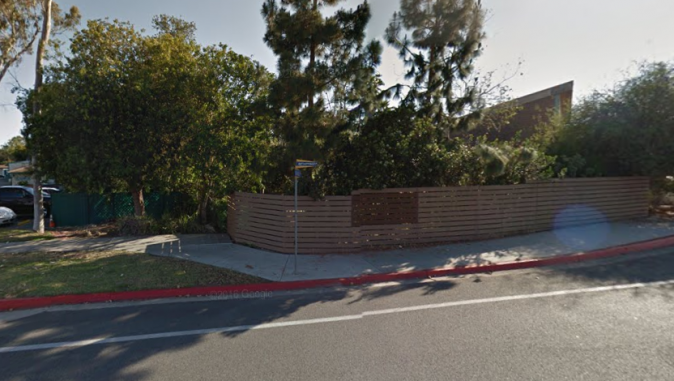 Site of brutal attack in Newport Beach,  California. (Screenshot via Google Maps)