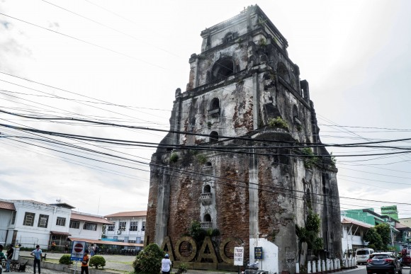 The Sinking Bell Tower in Laoag, built in 1612. (Mohammad Reza Amerinia)