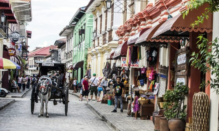 A street in Vigan. The capital of Ilocos Sur is known for its cobblestone streets and architecture dating back to the Philippine colonial era. (Mohammad Reza Amerinia)