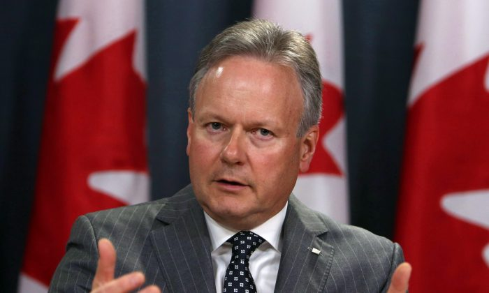 Stephen Poloz, governor of the Bank of Canada, holds a news conference in Ottawa after the central bank raised interest rates on July 12, 2017. The BoC raised its key policy rate to 1.00 percent on Sept. 6. (The Canadian Press/Fred Chartrand)