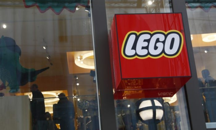 A Lego logo is seen outside the world's biggest Lego store in Leicester Square in London, Britain November 17, 2016. (Reuters/Stefan Wermuth)