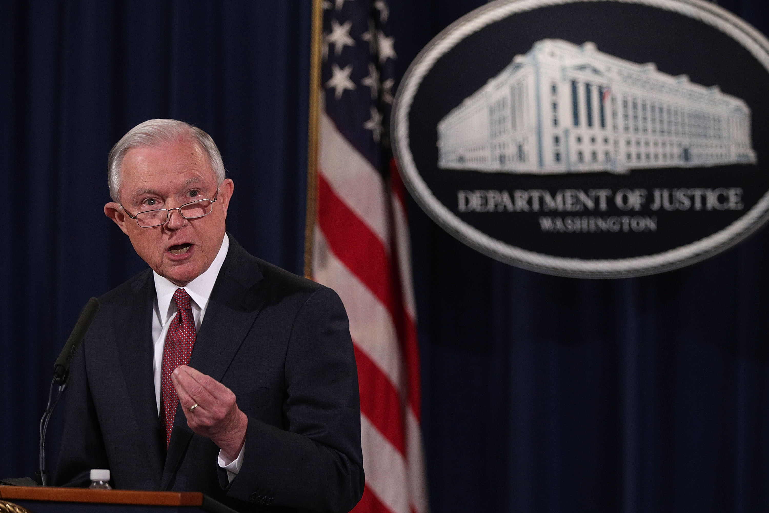 Attorney General Jeff Sessions announces the end to the Obama era Deferred Action for Childhood Arrivals (DACA) program, in Washington on Sept. 5, 2017. (Alex Wong/Getty Images)