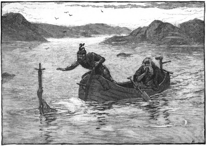 The Lady of the Lake gives Excalibur to King Arthur. (Alfred Kappes/Themadchopper)