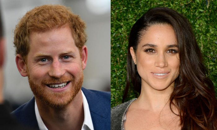 L: Prince Harry visits Manchester City Football Club to drop in on a Coach Core training session in Manchester, England on Sept.4, 2017. (Photo by Arthur Edwards-WPA Pool/Getty Images); R: Meghan Markle attends the 12th annual CFDA/Vogue Fashion Fund Awards at Spring Studios in New York City on Nov. 2, 2015. (Photo by Andrew Toth/Getty Images)