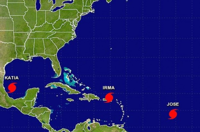 Hurricane Jose and Hurricane Katia formed on Wednesday, the agency stated, according to the 5 p.m. post. (NOAA)