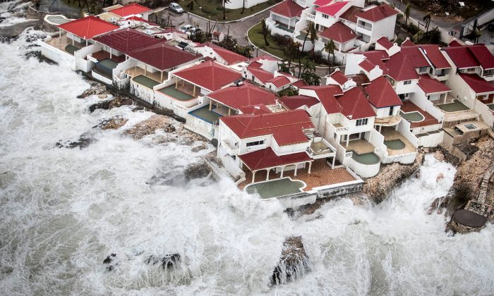 The aftermath of Hurricane Irma on Saint Martin. (Netherlands Ministry of Defense via REUTERS)