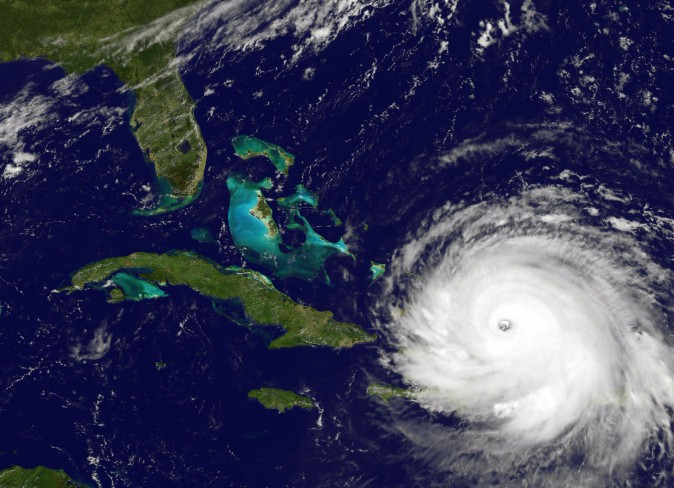 NOAA's GOES satellite shows Hurricane Irma  as it moves towards the Florida Coast in the Caribbean Sea taken at 16:15 UTC on Sept. 07, 2017. (NOAA GOES Project via Getty Images)