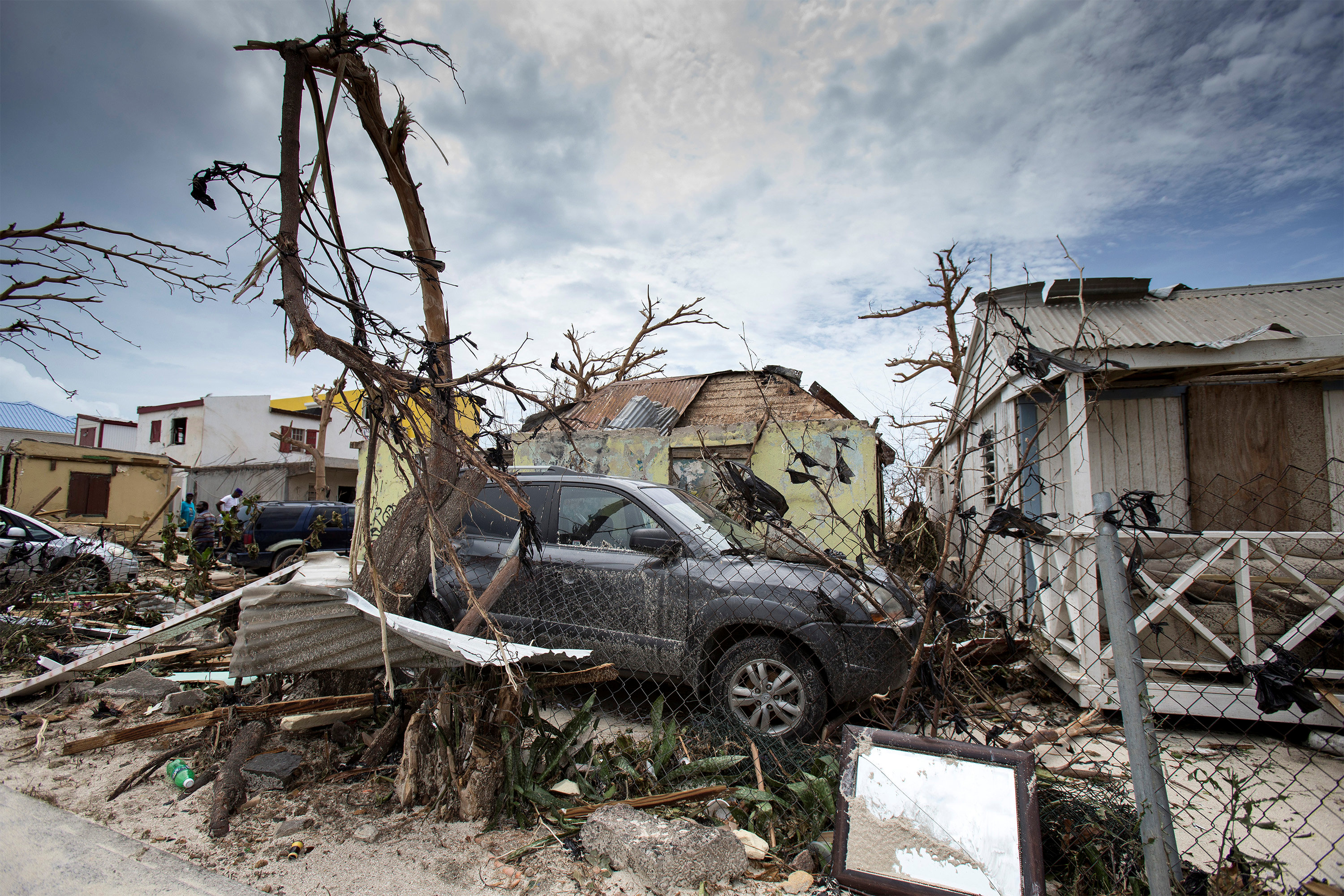 View of the aftermath of Hurricane Irma on Sint Maarten Dutch part of Saint Martin island in the Carribean on Sept. 7, 2017. (Netherlands Ministry of Defence- Gerben van Es/Handout via REUTERS)
