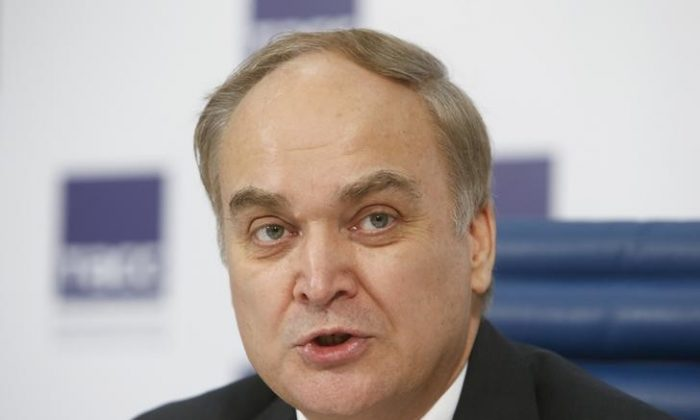 Anatoly Antonov attends a news conference in Moscow, Russia on March 5, 2015. (REUTERS/Sergei Karpukhin/Files)