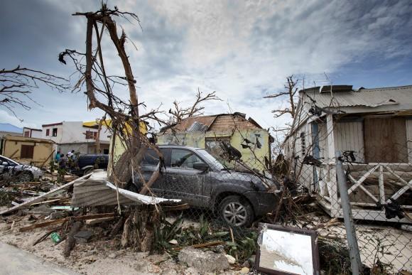 View of the aftermath of Hurricane Irma on Sint Maarten Dutch part of Saint Martin island in the Carribean September 7, 2017. Picture taken September 7, 2017. (Netherlands Ministry of Defence- Gerben van Es/Handout via Reuters)
