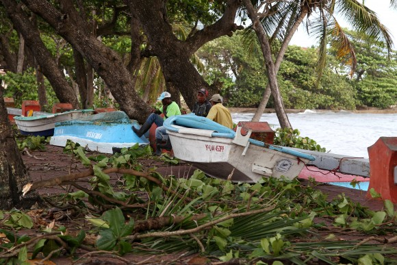 Boats lie on the street in the aftermath of Hurricane Irma in Puerto Plata, Dominican Republic,  September 8, 2017. (Reuters/Ricardo Rojas)