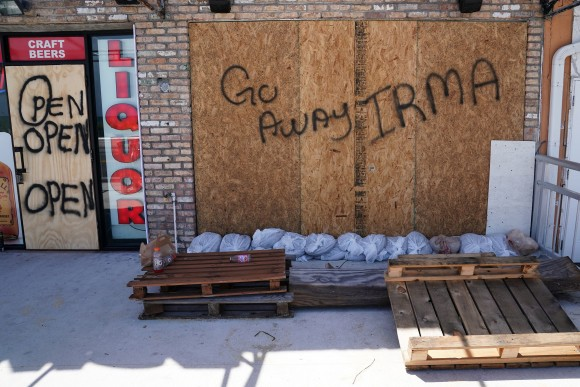 A boarded up business is pictured in advance of Hurricane Irma's expected arrival in Fort Lauderdale, Florida, U.S., September 8, 2017. (Reuters/Carlo Allegri)