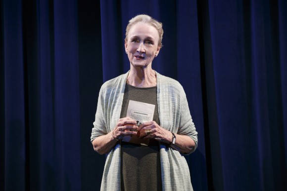 Kathleen Chalfant as Ann, who played Peter Pan when she was a girl, is now dealing with her father's death. (Joan Marcus)