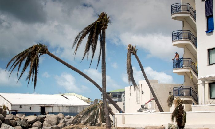 A man looks over the devastation of Hurricane Irma on the Dutch Caribbean island of Sint Maarten. (GERBEN VAN ES/AFP/Getty Images)