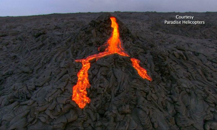 Lava has been flowing at the Kilauea Volcano on Hawaii's Big Island. (Screenshot/Reuters video)
