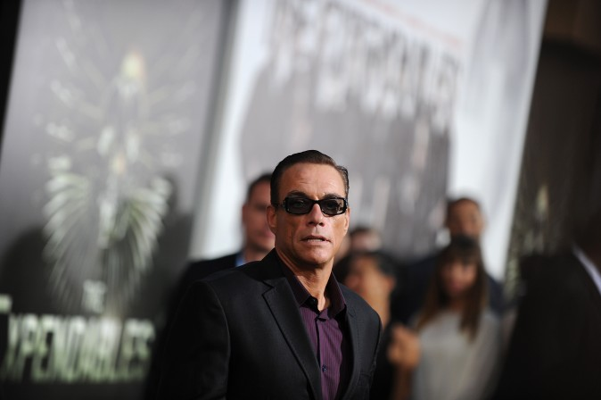 "Actor Jean-Claude Van Damme arrives at the film premiere of ""The Expendables 2"" at Grauman's Chinese Theatre in Hollywood, California on August 15, 2012. (ROBYN BECK/AFP/GettyImages)"