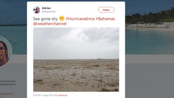 A scene in the Bahamas after Irma (@deejayeasya/Twitter screenshot)