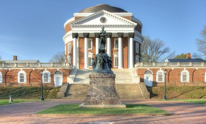 Statue of Thomas Jefferson at the University of Virginia. (By Bestbudbrian (Own work) [CC BY-SA 3.0 (http://creativecommons.org/licenses/by-sa/3.0)], via Wikimedia Commons)