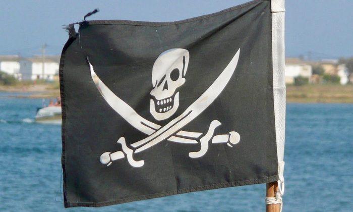 Jolly Roger flag.(Wikinade Wikimedia Commons CC BY-SA 3.0)