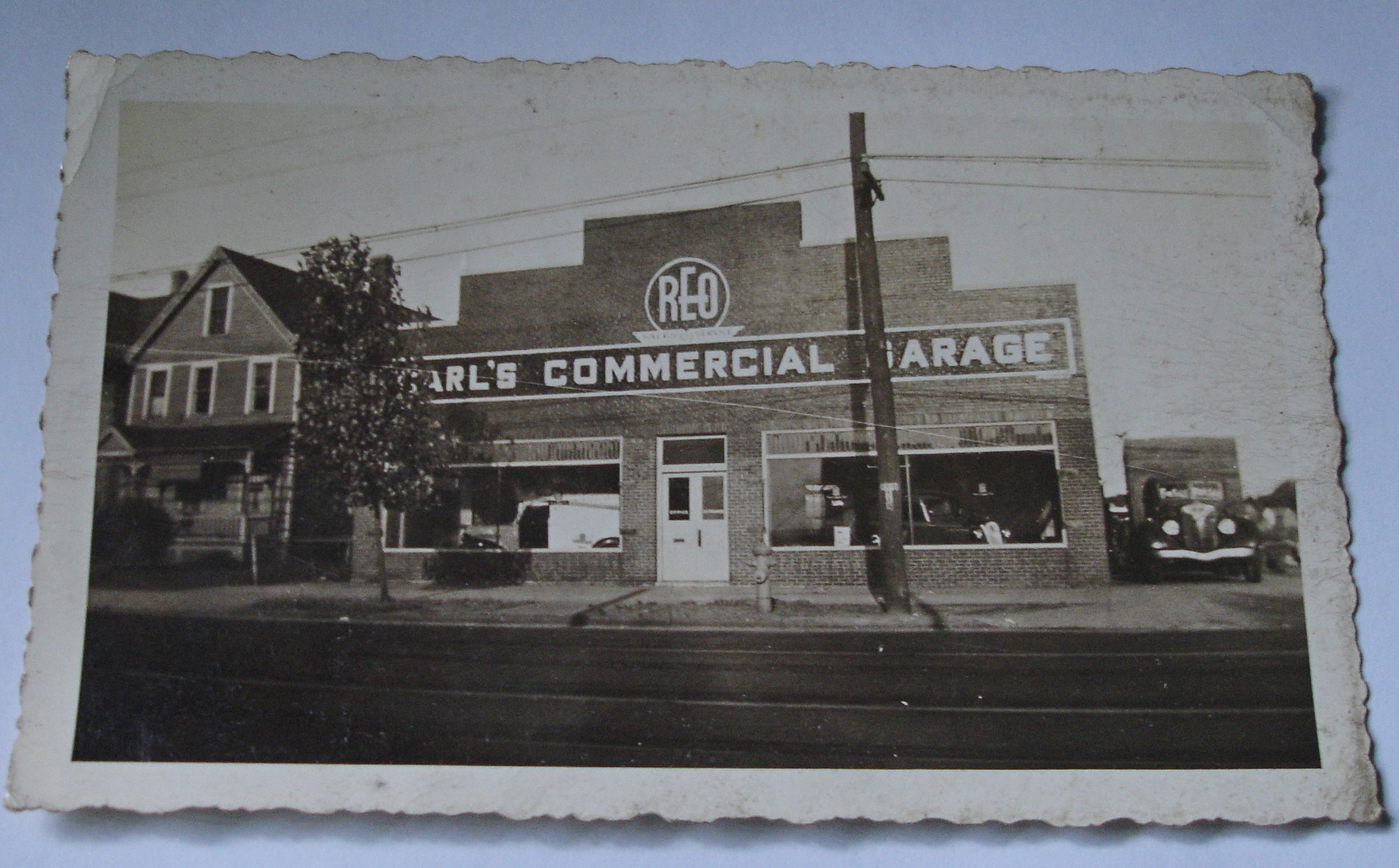 Carl's Commercial Garage, as it appeared in 1945. Photograph a few years later by Barbara Florio Graham. (Courtesy of Barbara Florio Graham)