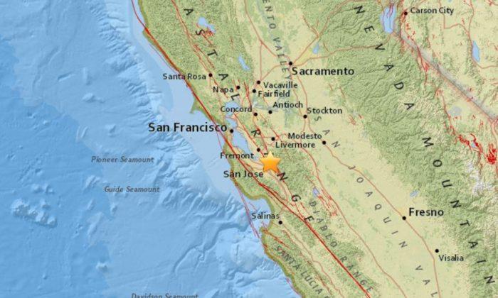 Earthquake reported northeast of San Jose. (USGS)