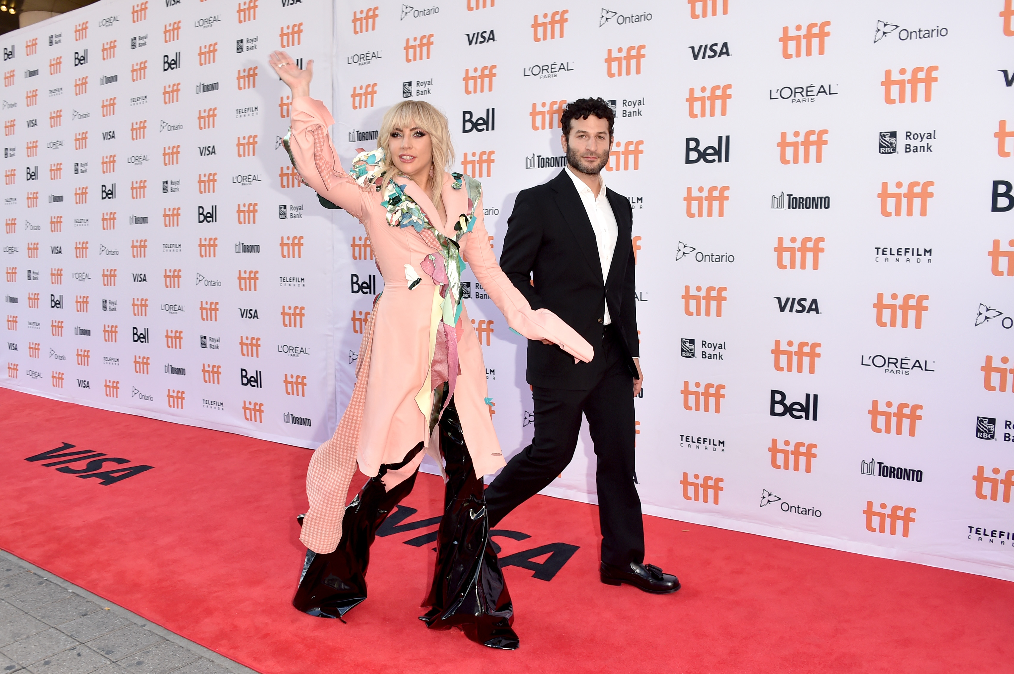 "Lady Gaga and Chris Moukarbel attend the ""Gaga: Five Foot Two"" premiere during the 2017 Toronto International Film Festival at Princess of Wales Theatre on Sept. 8, 2017 in Toronto, Canada. (Alberto E. Rodriguez/Getty Images)"